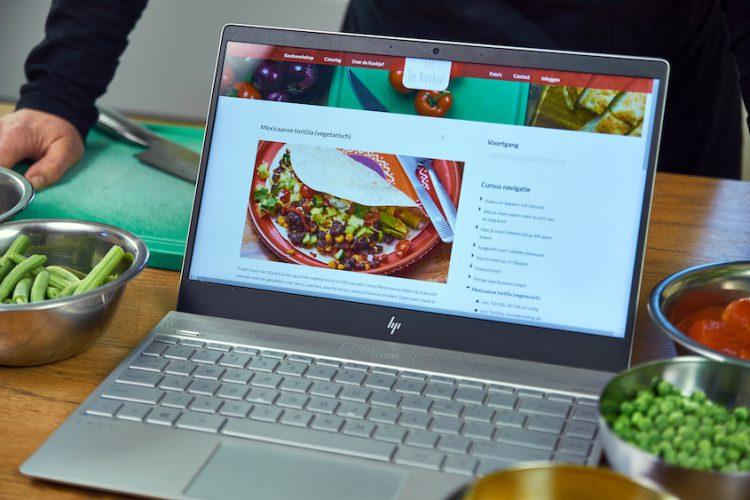 Laptop de kookjuf kookcursus